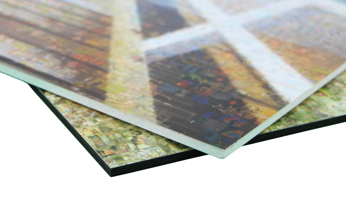 Fotomosaik-Forex-weiß-schwarz