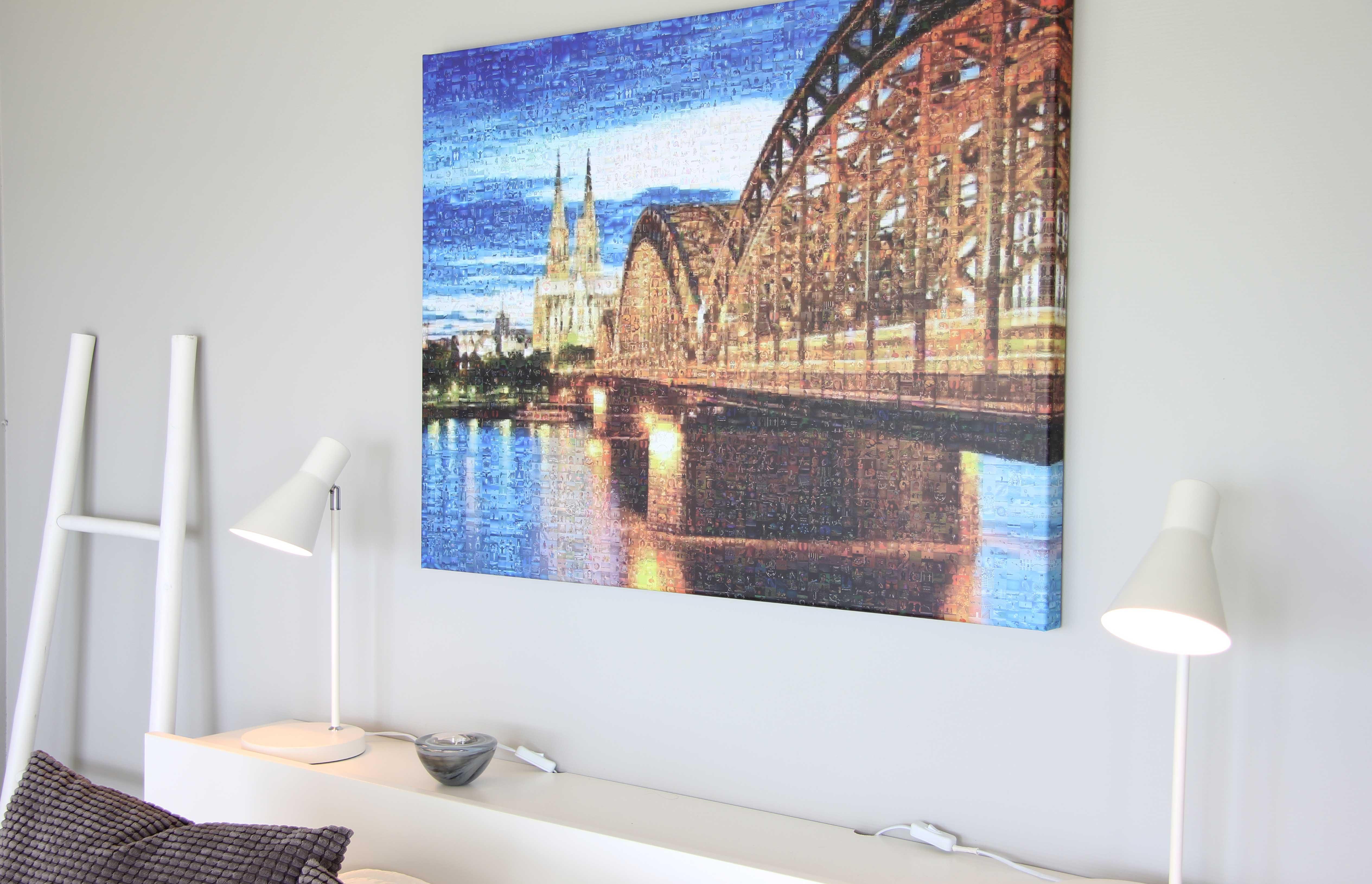 Leinwand Köln Fotomosaik