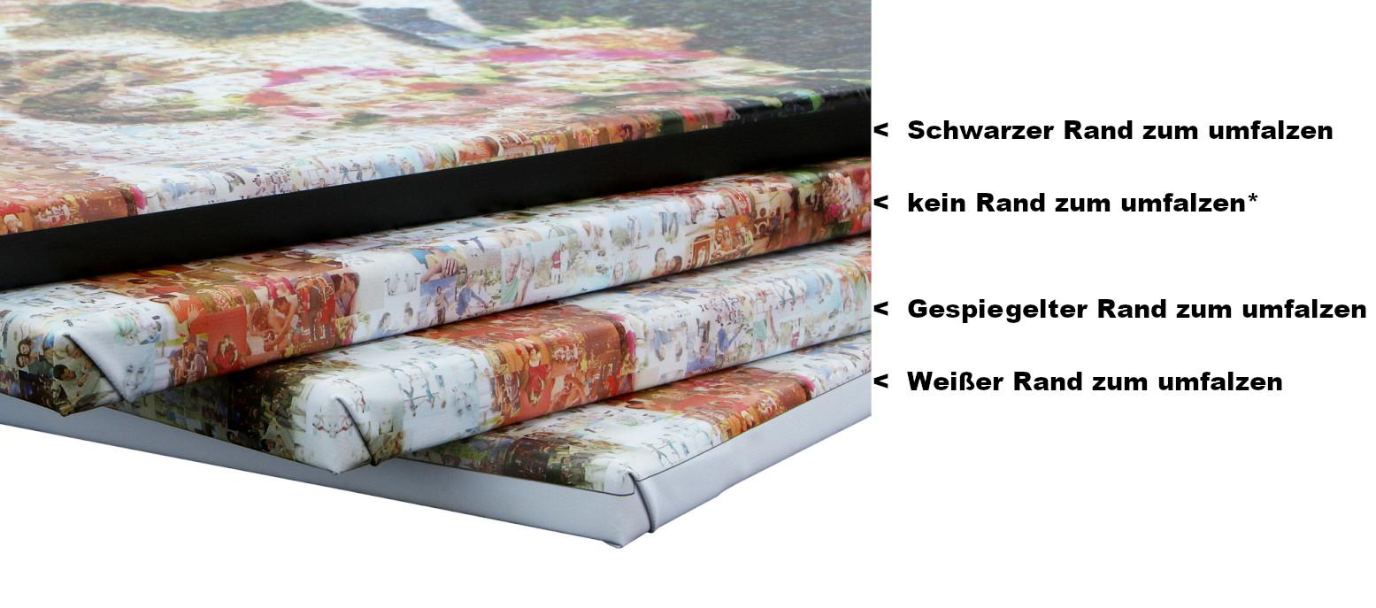 Fotomosaik Umfalzmethoden Leinwand