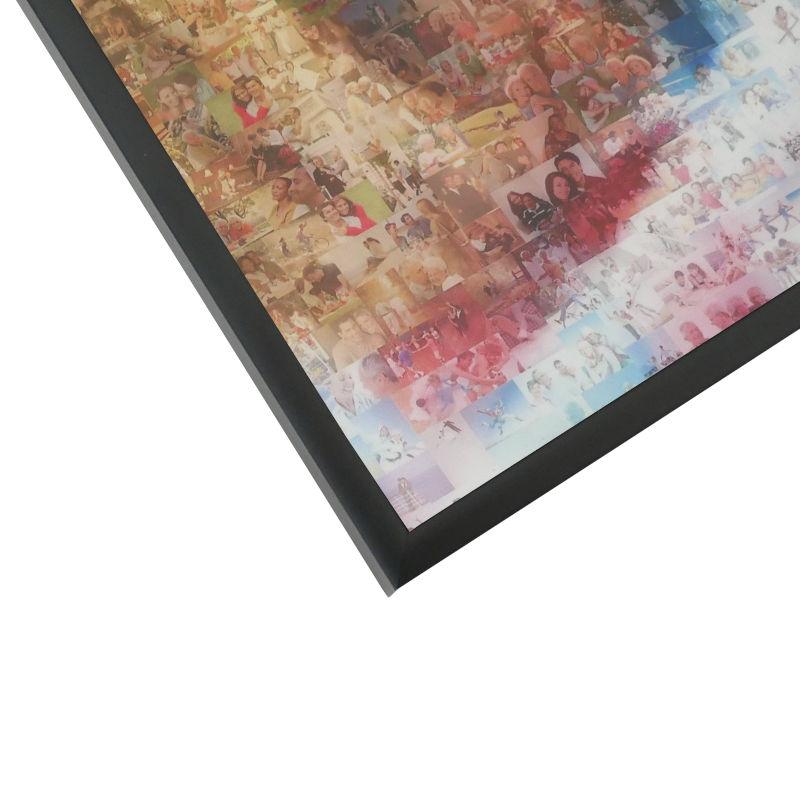 Mosaik AluRahmen schwarz