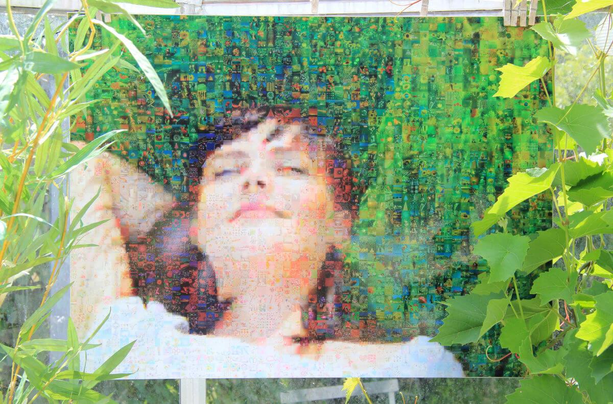 Fotomosaik auf Forex im Wintergarten