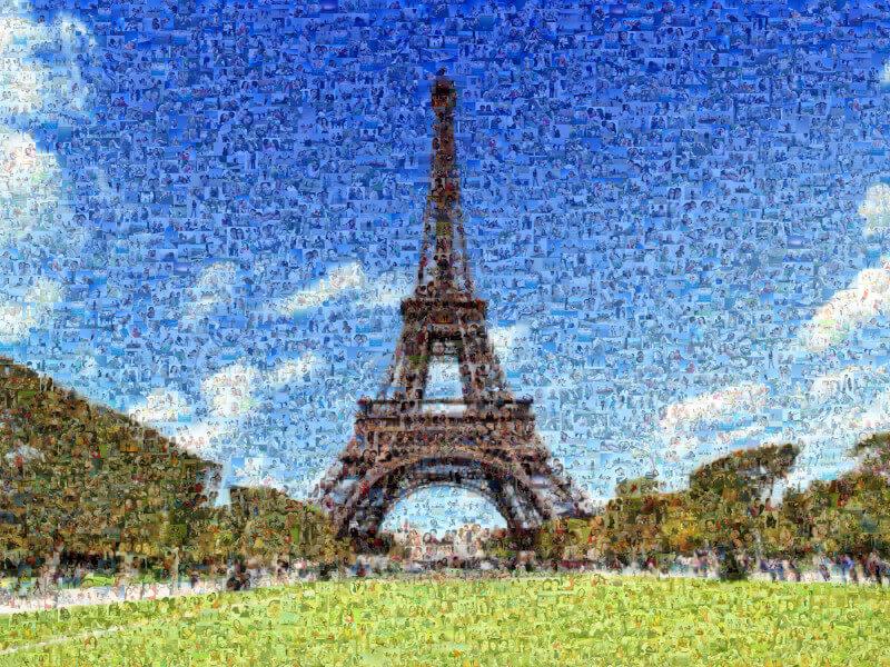 Fotomosaik Eiffelturm