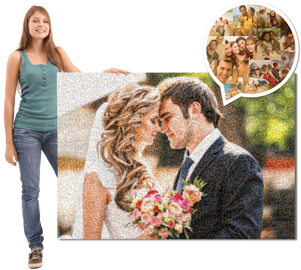Fotomosaik zur Hochzeit
